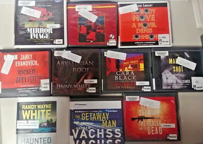 Mystery/Thriller Audio Books Lot of 10 on CD FREE SHIPPING Unabridged A-21