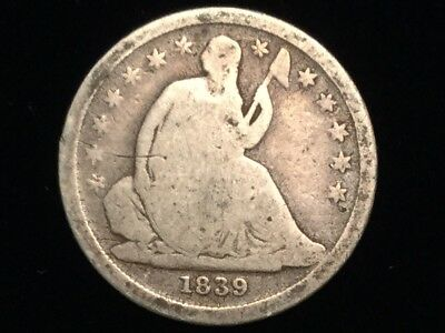 1839 Seated Liberty Dime Ag Condition No Reserve
