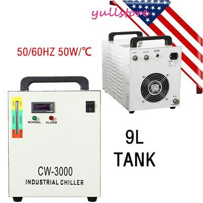 Industrial Water Chiller CW-3000 for CO2 Laser Engraving Engraver Machine 50W
