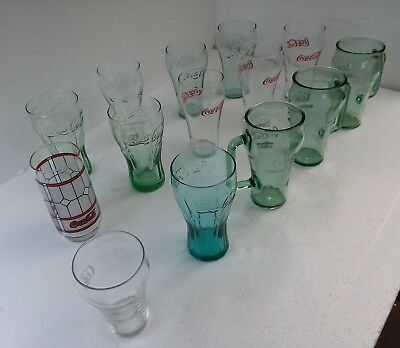 HUGE 14 LOT Coke Coca Cola Glasses Tumblers RETRO Drinking Glasses