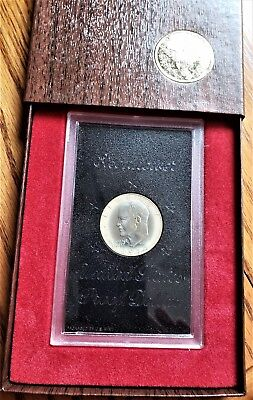 1974 Proof Eisenhower Clad Silver Dollar In Original Mint Display Box