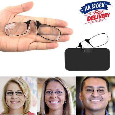 Thin Easy Carry Ultra Nose Clip Optics Presbyopic Ultralight Reading Glasses