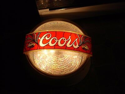Vintage 1981 Adolph Coors Company Lighted Coors Motion Disco Beer Sign