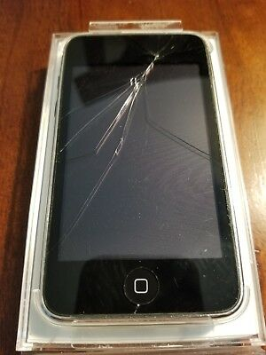 Apple iPod Touch 2nd Gen 8GB A1288 Gloss Black and Chrome Back Great Deal