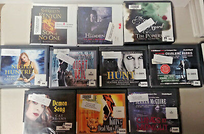 Fantasy Audio Books Lot of 10 on CD FREE SHIPPING Unabridged A-34