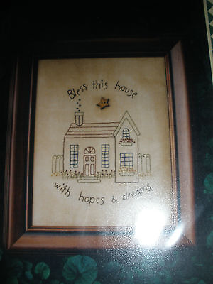 Candlelight Crations Stitchery Pattern - Bless this house with hopes and dreams