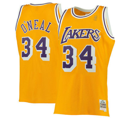 93150db58 MITCHELL   NESS Authentic Los Angeles Lakers Shaquille O Neal Shaq ...