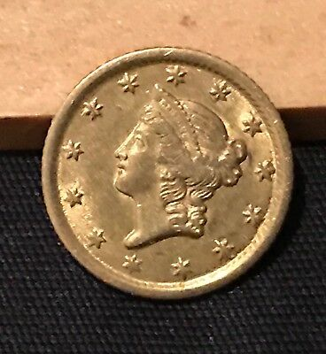 1853-O Gold Dollar, $1 Gold Liberty, Tougher Date New Orleans Issue