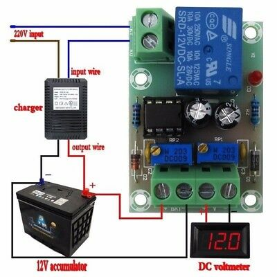 XH-M601 battery charging control board 12V intelligent charger power panel  G9J9