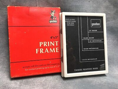 "Yankee 4""x 5"" Print Frame for Contact Printing with Glass & Template CAT PF-45"