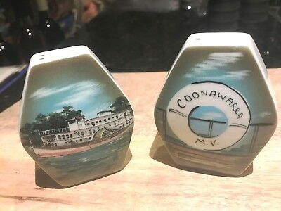 M.V. Coonawarra-Studio Anna-Hand Painted Art Pottery-Salt & Pepper Shakers-Label