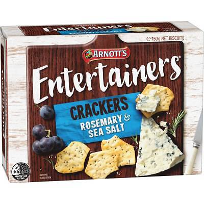 3x Arnott's Entertainers Crackers Rosemary & Sea Salt 150g