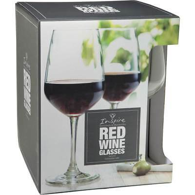 3x Inspire Red Wine Glass 4pk