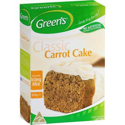 3x Greens Cake Mix Traditional Carrot 470g