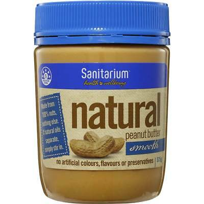 3x Sanitarium Peanut Butter Natural Smooth 375g