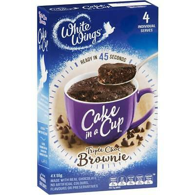 3x White Wings Cake In A Cup Triple Choc Brownie 4pk 220g