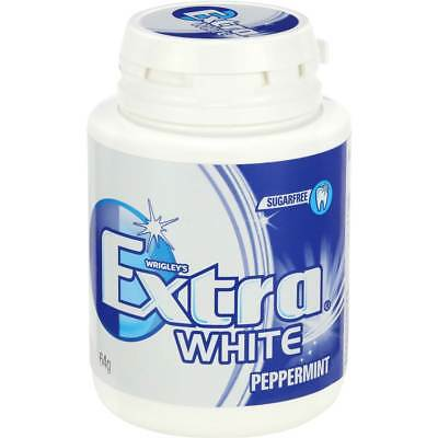 6x Wrigley's Extra White Gum Peppermint 64g bottle