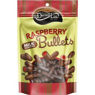 3x Darrell Lea Raspberry White Chocolate Bullets 200g