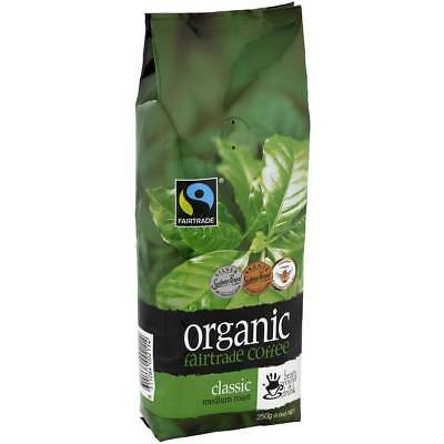 3x Bean Ground & Drunk Coffee Beans Organic Fairtrade Classic Roast 250g