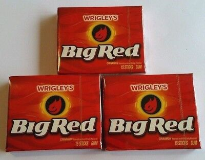 3 x USA BIG RED GUM 15PK EXTRA CHEWING GUM * Fast & Free Post *