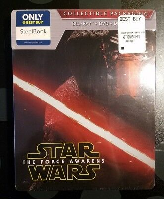 Star Wars: The Force Awakens Steel Book Blu-ray/DVD Best Buy Exclusive