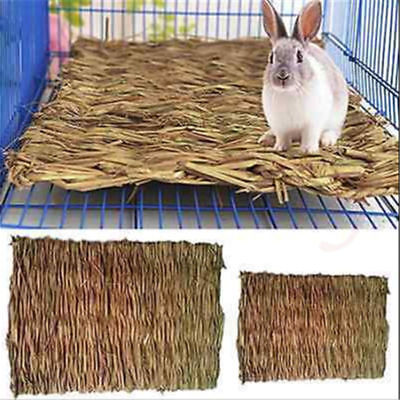 Animal Hamster Grass Chew Mat Breakers Toy Rabbit Rat Guinea Pig House pad