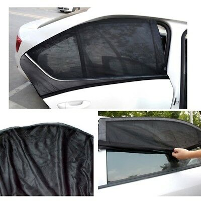 2x Children Kids Baby Car Sun Shade Cover Blind Mesh Rear Side Window Protector