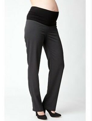 BNWT ~ RIPE Maternity Brown Tabor Roll waist corporate Pants ~  Size XL