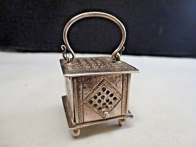 Antique Chinese  Silver Pierced/Reticulated Cricket/Potpourri Box 1920s