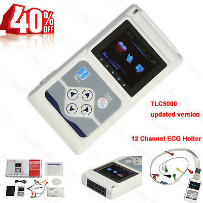 2018 Newest 12 channel EKG ECG Holter System Recorder Monitor ​Analyzer Software