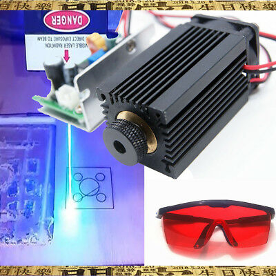 Focusable High Power 450nm 4W Blue Laser Module TTL Carving/Burning Gift Goggles