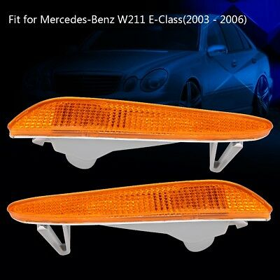 For Mercedes-Benz W211 EClass Right/Left Side Marker In Bumper Turn Signal Light