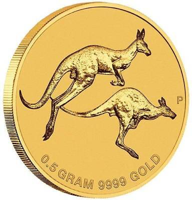 2018 Mini Roo 0.5g .9999 Gold Coin in Card - The Perth Mint
