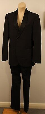 SMALL UNISEX ORIGINAL VINTAGE 1960s MENS DINNER SUIT. WITH RED LINING.