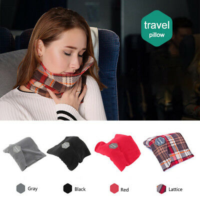 Portable T-Pillow Soft Comfortable Travel Pillow Proven Neck Support Sitting Nap