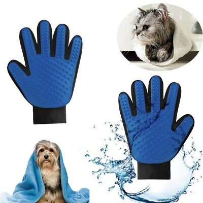 True Deshedding Glove Touch for Gentle and Efficient Pet Katze Grooming Massage