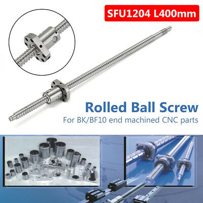 SFU1204 L400mm Ball Screw C7 + 1204 Single Ballnut For BK/BF10 CNC End Machined