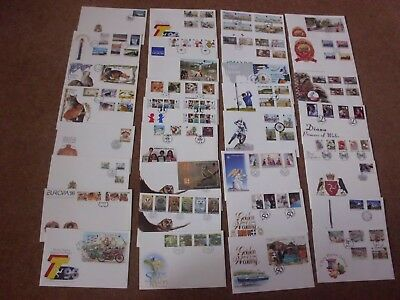 Superb Collection 1996-98 Isle of Man FDCs - all spec HS unaddressed (33) -rf324