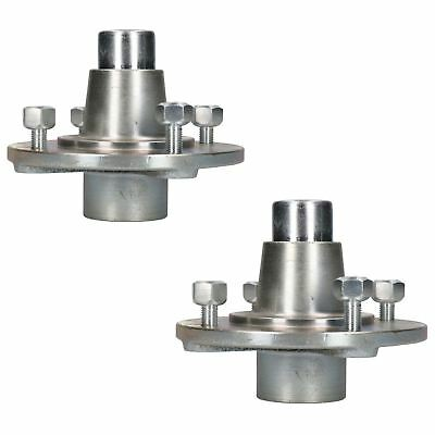 Pair Of Trailer Cast Wheel Hub 115mm PCD with Sealed Bearings for Erde Daxara