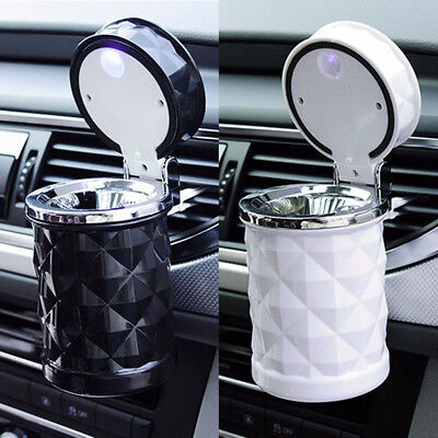 US LED Auto Car Truck Cigarette Smoke Ashtray Cylinde Holder for Home/Offiice