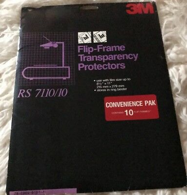 3M Flip-Frame Transparency Film Protectors RS 7110/10 New 10 Pack