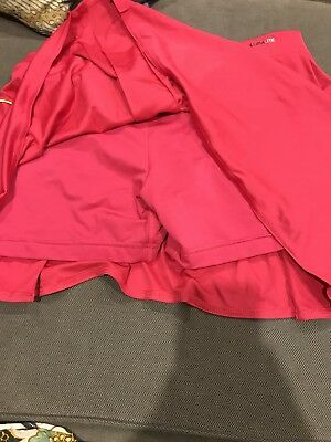 Adidas tennis skirt- pink and yellow - size M