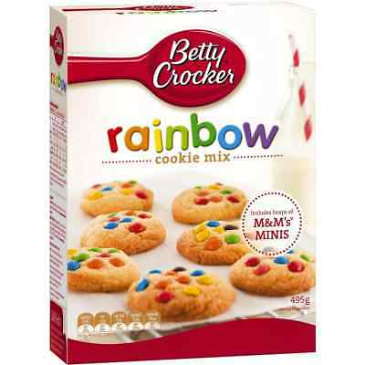 6x Betty Crocker Rainbow Chip With M&m Cookie Mix 495g