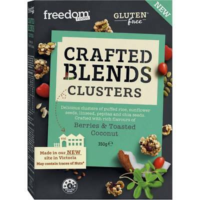 6x Freedom Foods Crafted Blend Clusters Berries And Coconut 350g