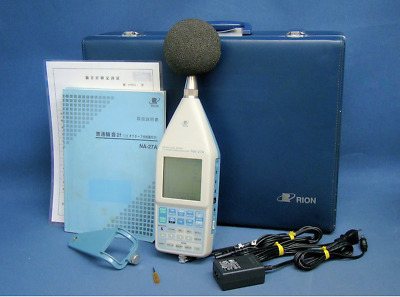 RION NA-27A Sound Level Meter 1/3 Octave Band Analyzer