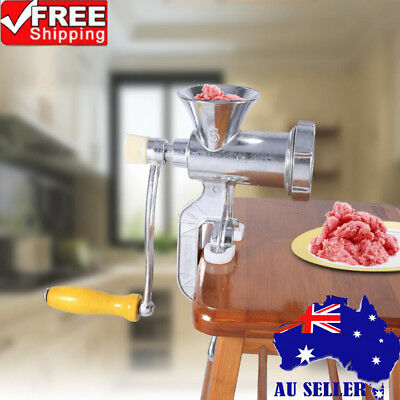 Manual Meat Grinder Mincer Pasta Maker Hand Operated Crank Tool for Kitchen AU