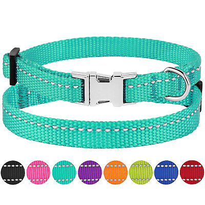 Reflective Dog Collar Adjustable Nylon Collars for Small Toy Miniature Dogs