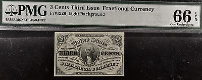 Fr.1226 3 Cents Third Issue Fractional Currency PMG 66EPQ