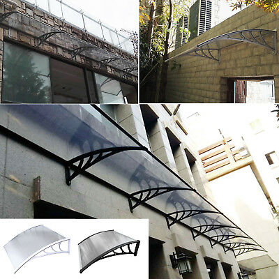 Door Canopy Awning Shelter Front Back Porch Outdoor Shade Black & White