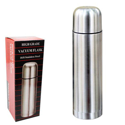 Stainless Steel Vacuum Insulated Flask 18/8 Hot Cold Tea Coffee Drink Thermos